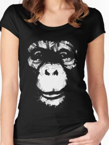 Everything's More Fun With Monkeys Women's Fitted Scoop T-Shirt