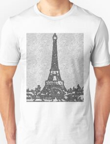 THE EIFFEL TOWER IN BLACK AND WHITE T-Shirt