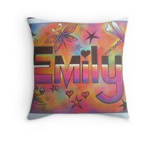 Emily personalised picture Throw Pillow