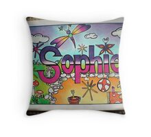 Sophie personalised picture Throw Pillow