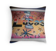 Lucas persoanlised picture Throw Pillow