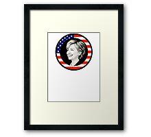 hillary clinton : us flag Framed Print