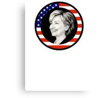 hillary clinton : us flag Canvas Print