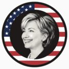 hillary clinton : us flag by asyrum