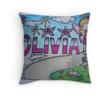 Olivia personalised picture Throw Pillow