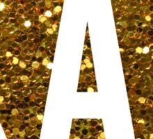 Kappa Alpha Theta Gold Glitter Circle Sticker