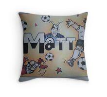 Matt personalised pic Throw Pillow