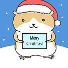 Santa Hamster by Zoe Lathey