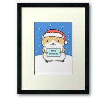 Santa Hamster Framed Print