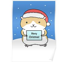 Santa Hamster Poster