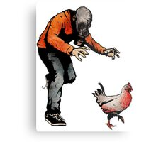 LEROY VS THE EVIL ZOMBIE CHICKEN! Metal Print