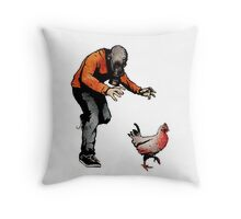 LEROY VS THE EVIL ZOMBIE CHICKEN! Throw Pillow