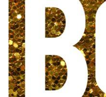Pi Phi Gold Glitter Circle Sticker