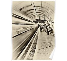 Down in a Tube Station at Midnight Poster