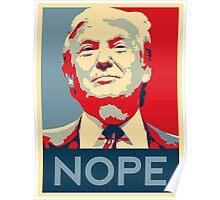trump nope Poster
