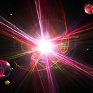 Supernovas And Space Marbles (Best Viewed Larger) by christopher r peters