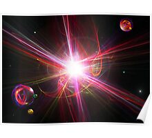Supernovas And Space Marbles (Best Viewed Larger) Poster