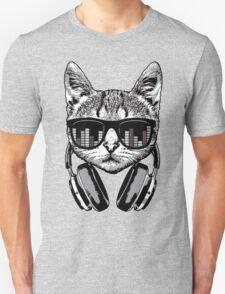 Headphones Cat Equalizer Glasses T-Shirt