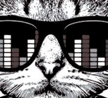 Headphones Cat Equalizer Glasses Sticker