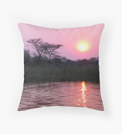 Kwando Sunset - Africa Throw Pillow