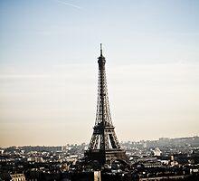 Eiffel Tower and Paris City View by kbudz