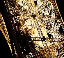 iron work of Eiffel Tower by kbudz