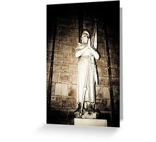 Joan of Arc Statue at Notre Dame, Paris, France Greeting Card