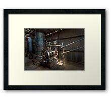 Shearing Shed Belt Drive Framed Print