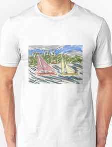Drawing: View from Nielsen Park (Sydney Harbour) IV (2015) T-Shirt