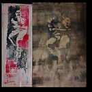 monoprint selfportrait by ShipeiWang