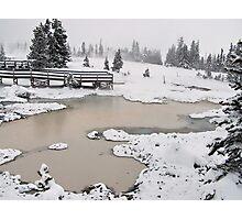 Yellowstone thermals Photographic Print