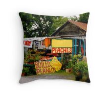 Roadside Stand Throw Pillow