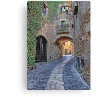 Spanish Medieval Town Canvas Print