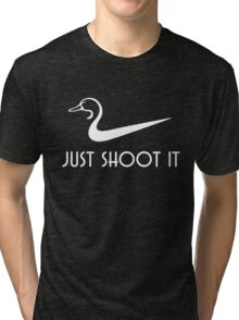 Just Shoot It Funny Duck Hunting Tri-blend T-Shirt
