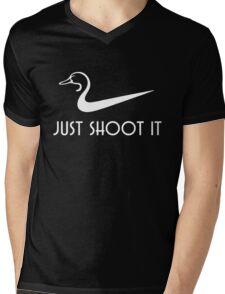 Just Shoot It Funny Duck Hunting Mens V-Neck T-Shirt