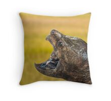 Alligator Snapping Turtle Throw Pillow
