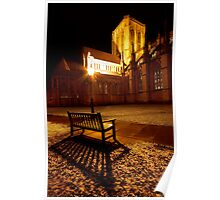 First signs of winter at York minster Poster