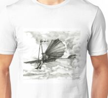 Homage to men with wings. Unisex T-Shirt