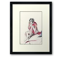 Red Shadow Framed Print