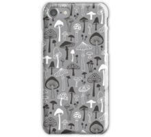 Mushrooms in Grey iPhone Case/Skin