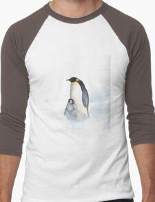 Penguins In The Wind Men's Baseball ¾ T-Shirt