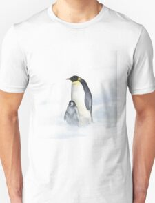 Penguins In The Wind Unisex T-Shirt