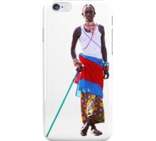 Massai warrior iPhone Case/Skin