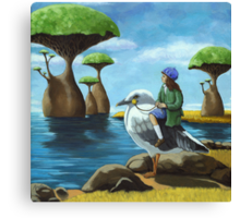 Trip to the Ocean Aviary  Canvas Print