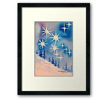 11:11 stars/trees Framed Print