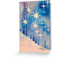 11:11 stars/trees Greeting Card