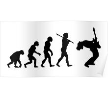 EVOLUTION OF A GUITAR PLAYER Poster