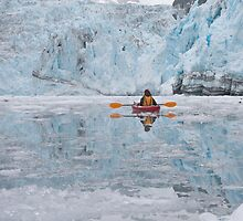 Kayaking in Glacial Waters by noffi