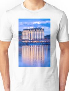 Evening reflection of the hotel Unisex T-Shirt