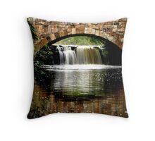 Davies Bridge at Petit Jean State Park Throw Pillow